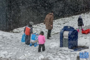 A view: Snow and struggle